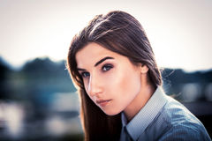 Beautiful young brunette girl Stock Photo