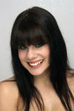 Beautiful Young Brunette, Headshot (1) Stock Image