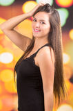 Beautiful young brunette latin long haired girl Royalty Free Stock Photos