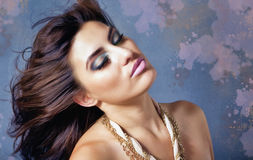 Beautiful Young Brunette Latino Female Royalty Free Stock Photos