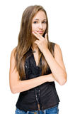 Beautiful young brunette model. Royalty Free Stock Photo