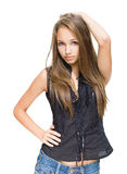 Beautiful young brunette model. Stock Image