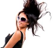 Beautiful young brunette model Royalty Free Stock Photography