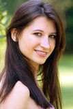 Beautiful Young Brunette outdoors (3) Royalty Free Stock Photography