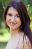 Beautiful Young Brunette outdoors (4) Royalty Free Stock Photos