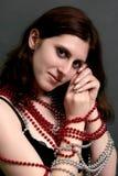 Beautiful young brunette portrait Stock Images