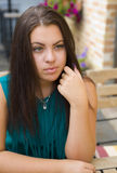 Beautiful young brunette Stock Image