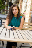 Beautiful young brunette Royalty Free Stock Photography