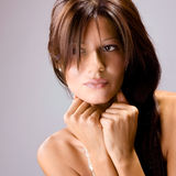 Beautiful young brunette posing Royalty Free Stock Image