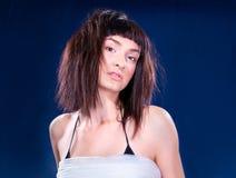 Beautiful young  brunette posing Stock Image
