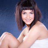 Beautiful young  brunette posing Stock Photo