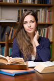 Beautiful young brunette student. Royalty Free Stock Photo