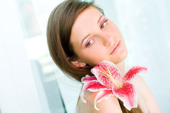 Beautiful young brunette woman. Royalty Free Stock Images