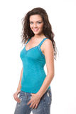Beautiful Young Brunette Woman Stock Photo