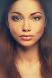 Beautiful young brunette woman Royalty Free Stock Photography