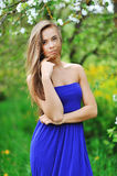 Beautiful young brunette woman portrait outdoors Royalty Free Stock Images