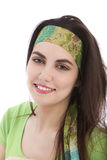 Beautiful young brunette woman wearing a headband Stock Photography