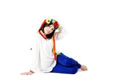 Beautiful young brunette woman wearing national ukrainian clothe Royalty Free Stock Photos