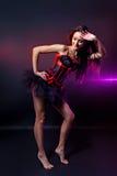 Beautiful young burlesque showgirl Stock Photos