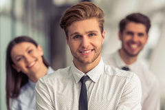 Beautiful young business people Royalty Free Stock Photography