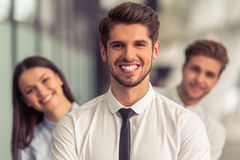 Beautiful young business people Royalty Free Stock Photos