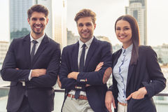 Beautiful young business people Stock Images