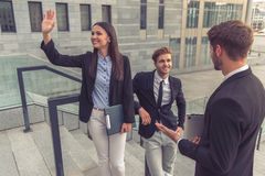 Beautiful young business people Royalty Free Stock Image