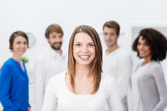 Beautiful young business team leader Royalty Free Stock Photos