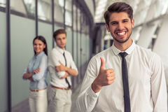 Beautiful young business team Stock Image