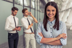 Beautiful young business team Stock Images
