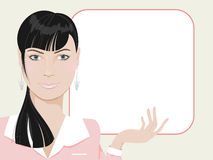 Beautiful young business woman vector illustration