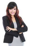 Beautiful young business woman Stock Photos