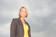 Beautiful young business Woman Stock Image