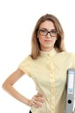 Beautiful young business woman Royalty Free Stock Photos