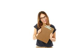 Beautiful young business woman royalty free stock photography