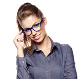 Beautiful young business woman Stock Images