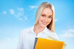 Beautiful young business woman Stock Photography