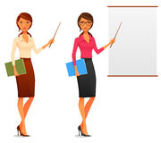 Beautiful young business woman stock illustration