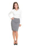 Beautiful young business woman full body on white Stock Image