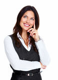 Beautiful young business woman. Stock Photos