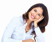 Beautiful young business woman. Stock Photography