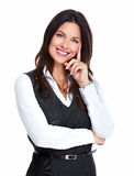 Beautiful young business woman. Royalty Free Stock Photography