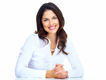 Beautiful young business woman. Royalty Free Stock Photo