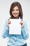 Beautiful young business woman portrait. Stock Photos
