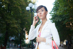 Beautiful young business woman Royalty Free Stock Images