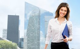 Beautiful young businesswoman Royalty Free Stock Photo