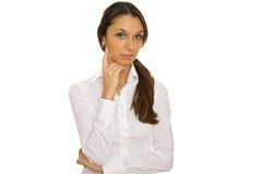 Beautiful young businesswoman Royalty Free Stock Photos