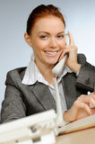 Beautiful young businesswoman Stock Photos