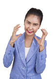 Beautiful young businesswoman are angry. Stock Photos