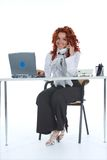 Beautiful young businesswoman calling Royalty Free Stock Image